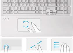 Sony VAIO S Series SVS13A12FXB Multi gesture touchpad